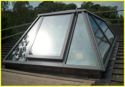 UltraLight, Custom Designed, Glass Roof Access Rooflight