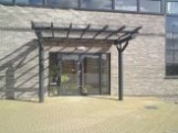 Solus, Monopitch Self Supported Glass and Steel Canopy